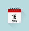 april 16 easter calendar icon holidays in april vector image vector image