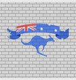 australian ribbon in brick wall vector image vector image