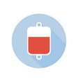 blood transfusion intravenous therapy system icon vector image