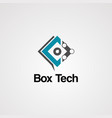 box tech logo icon element and template vector image vector image