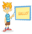 cartoon of blond boy vector image