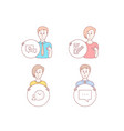 checkbox time management and idea lamp icons vector image
