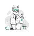 chemist lab concept with old scientist professor vector image