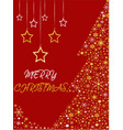 christmas tree greeting card vector image vector image