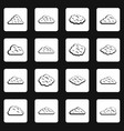 clouds icons set squares vector image vector image