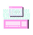coding flat vector image vector image