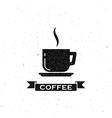 coffee break label vector image vector image