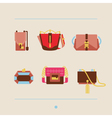 collection of woman bags and purses vector image vector image