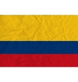 Colombia paper flag vector image