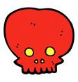comic cartoon spooky skull symbol vector image vector image