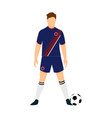 costa rica football jersey national team world cup vector image