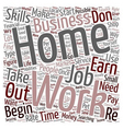 Create Your Own Work At Home Job text background vector image vector image