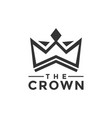 crown logo design inspiration vector image vector image