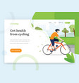 cycling landing page vector image