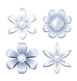 Diamond flowers vector image vector image