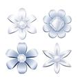 Diamond flowers vector image