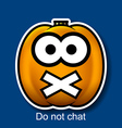 Do Not Chat vector image