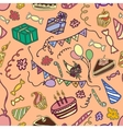 Doodle pattern happy birthday vector image vector image