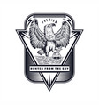 eagle hand drawn badge vector image