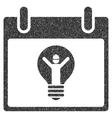 Electrician Calendar Day Grainy Texture Icon vector image