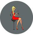 elegant silhouette beautiful woman vector image vector image