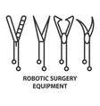 equipment for robotic surgery vector image vector image