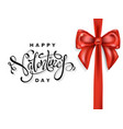 festive card for happy valentines day vector image vector image