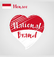 flag heart of monaco national brand vector image vector image