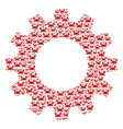 gear mosaic of crab icons vector image