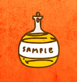 Glass Bottle Cartoon vector image vector image