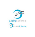 globe science logo vector image