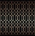 golden art deco linear seamless pattern vector image vector image