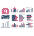 Graphs and Charts Templates vector image