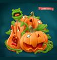 halloween pumpkin cartoon characters 3d icon vector image vector image