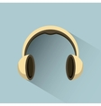 headphones icon design vector image vector image