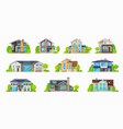 home house villa bungalow condominium real estate vector image vector image
