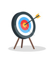image of the arrow is exactly on the target vector image vector image