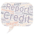 Insurance And Your Credit Report Part II text vector image vector image