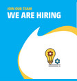 join our team busienss company bulb with gear we vector image