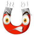 Magnet with angry face vector image vector image