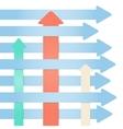 many arrows - abstract infographics progress vector image