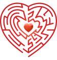 maze heart vector image vector image