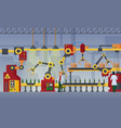 modern factory assembly line vector image