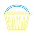 neon glowing sweet cupcake dessert vector image
