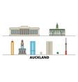 new zealand auckland flat landmarks vector image vector image