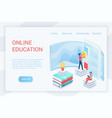 online education elearning isometric landing page vector image vector image