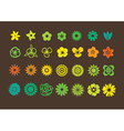 pack flowers icons vector image