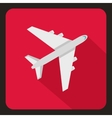 Passenger plane icon flat style vector image vector image