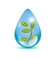 Plant in a sphere icon vector image vector image