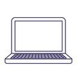 purple line contour of laptop computer vector image vector image